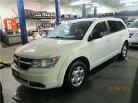 2009 DODGE JOURNEY SE WITH BUILT IN BOOSTER SEATS ...PEARL WHITE