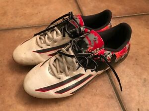 Adidas Messi  Soccer Cleats - White and Granite-Size 7