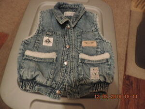 Size 18-24 months Denim Vest with Shearling Lining