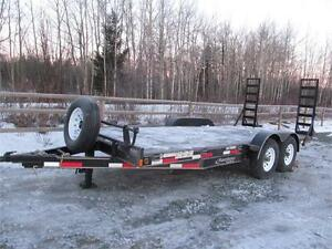BLOW-OUT! 18' CARHAULER WITH STAND-UP RAMPS