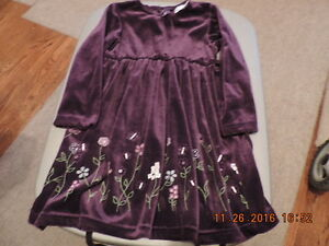Girl's Size 5T Velour Party Dress