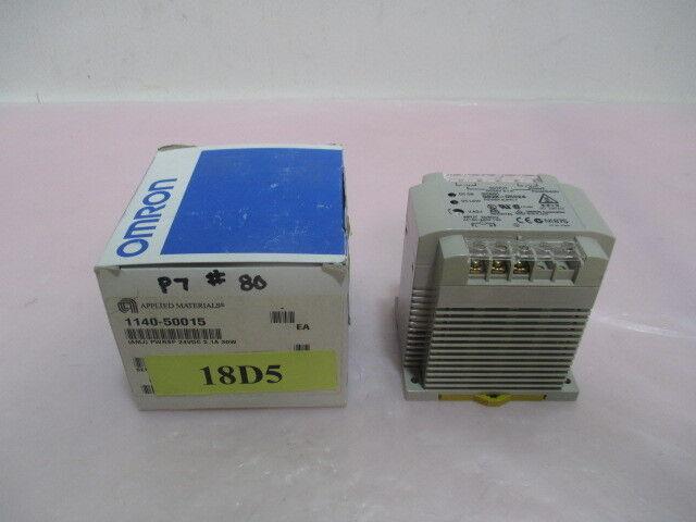 AMAT 1140-50015 (AMJ) Power Supply, 24VDC, 2.1A, 30W, Omron S82K-05024, 418014