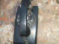 THREE VINTAGE PHONES CIRCA 1960-1970/TELE. TABLE AND MATCHING CH