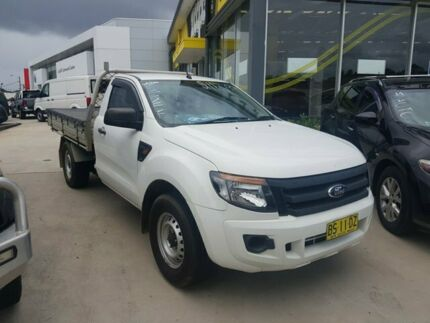 2012 Ford Ranger PX XL 4x2 White 5 Speed Manual Cab Chassis Cardiff Lake Macquarie Area Preview