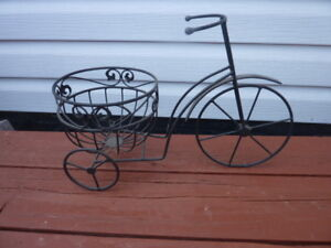 Steel 'Tricycle' Plant Holder