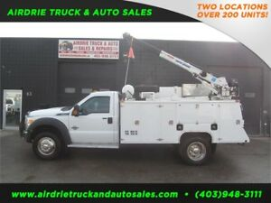 2012 Ford Super Duty F-550 DRW XLT 3202 Auto Crane Service Body