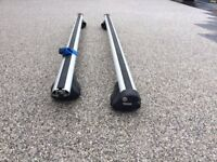 Thule Aero Roof Bars for cars with roof rails.