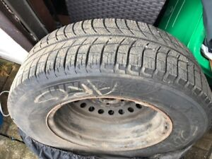 Michelin X ice winter tires 205-70-15 with rims for sale $250.00