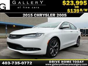 2015 Chrysler 200S V6 $139 bi-weekly APPLY NOW DRIVE NOW
