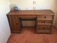 Good quality computer desk with desktop storage and 3 storage/keyboard draws.