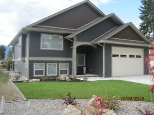 NEWER HOUSE IN SALMON ARM (built in 2012)--AVAILABLE  July 1.