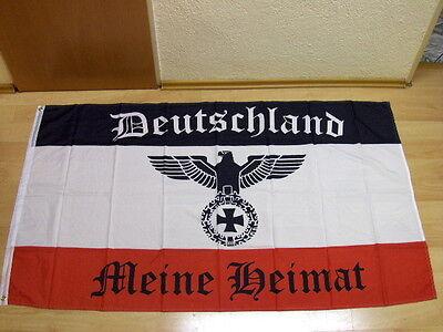 Fahnen Flagge Deutsches Reich Deutschland Meine Heimat Reichsadler - 60 x 90 cm