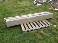 Lintels steps concrete and faux stone from 70s house demolition from 1m to 3m lengths