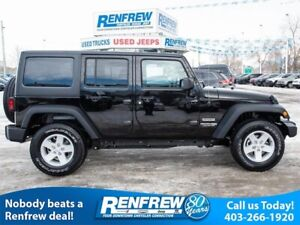 2018 Jeep Wrangler JK Unlimited Sport 4x4, Air Conditioning, Sir