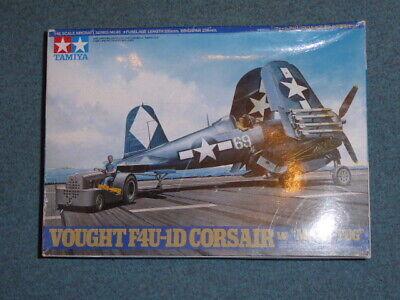 Corsair F4U-1D with Moto-Tug 1/48 Tamiya Plastic Model Kit No 61085