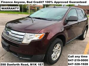 2009 Ford Edge SE FINANCE 100% APPROVED GUARANTEED WARRANTY