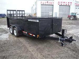 *GUARANTEED LOWEST PRICE*  7X16 SOLID SIDE TRAILER – 10K GVWR