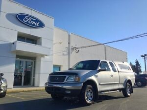 2002 Ford F-150 XLT 4x4 with Matching Canopy