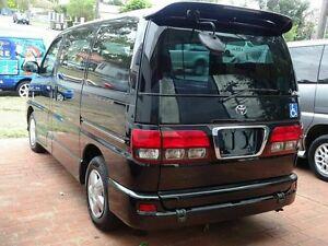 1999 Toyota Regius LIFECARE Rear hoist Black 4 Speed Automatic Wagon Taren Point Sutherland Area Preview