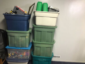 BINS OF TOYS FOR SALE - 8 IN TOTAL