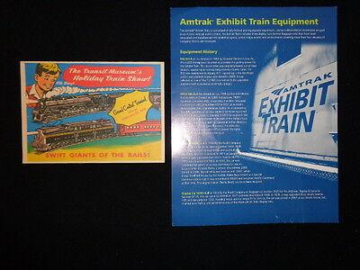 Advertising ephemera NY GCT model train show and Amtrak train equipment history