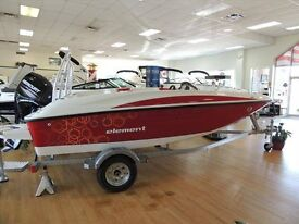 Bayliner Element powered with a Mercury F80EFI