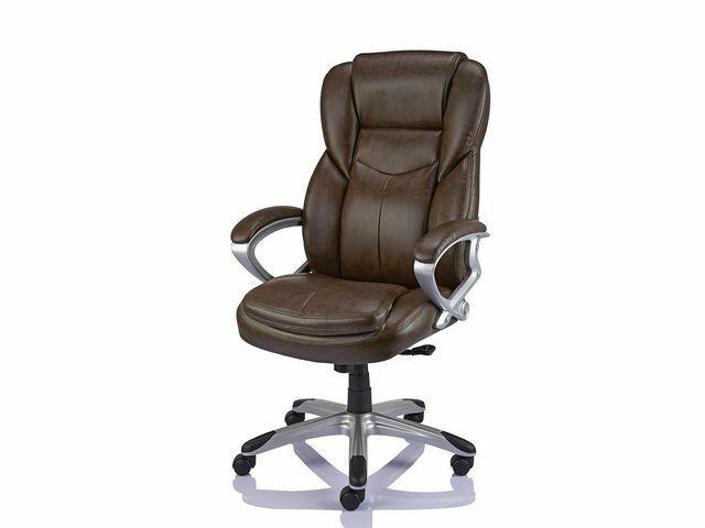 Staples Giuseppe Bonded Leather Executive Office Chair Adjust Recline 718103249447 Ebay