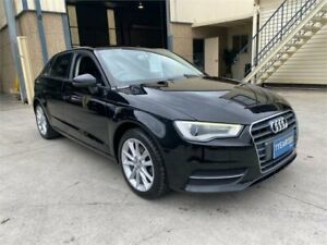 2013 Audi A3 8V Attraction Sportback S Tronic Black 7 Speed Sports Automatic Dual Clutch Hatchback Greystanes Parramatta Area Preview