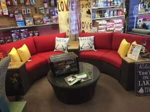 LOTUS SECTIONAL GROUP WITH SUNBRELLA CUSHIONS