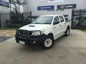 2012 Toyota Hilux KUN26R MY12 SR (4x4) Glacier White 5 Speed Manual Dual Cab Pick-up Beckenham Gosnells Area Preview