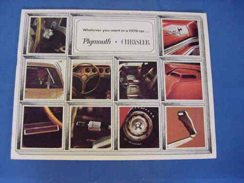 1970 MOPAR PLYMOUTH CHRYSLER SALES BROCURE ALL MODELS 11X9(NICE)