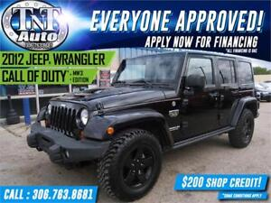 2012 Jeep Wrangler Unlimited Call of Duty MW3 Edition-APPLY NOW!