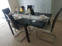 Barker and stonehouse dining table & 4 chairs