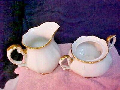 Mitterteich GOLDEN LARK Creamer Covered Sugar Bowl Made In Germany 1507 28 - $42.95