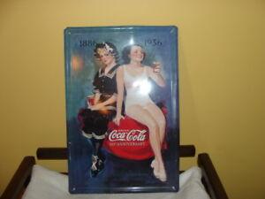 Affiche Coca-Cola, 50th anniversaire, étain