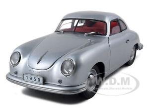 1950 PORSCHE 356 COUPE SILVER 1:18 DIECAST MODEL CAR BY SIGNATURE MODELS 38206