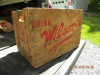 Wilson Ginger Ale Crate