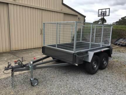 8X5 TANDEM BOX 2 TON with 900mm HIGH CAGE