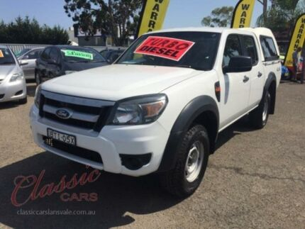 2010 Ford Ranger PK XL (4x4) White 5 Speed Manual Dual Cab Pick-up Cabramatta Fairfield Area Preview