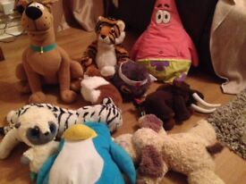 TEDDIES/SOFT TOYS including Scooby-Doo, Puffle Pillow etc