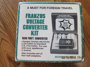 Vtg FRANZUS Voltage Converter Kit for Foreign Travel 1950's ?