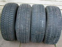 4-195/70R14 M+S ALLSEASON TIRES CAN SELL IN PAIRS
