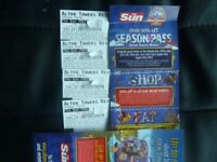 FOUR ALTON TOWERS TICKETS FOR SATURDAY 28TH MAY 2018 ADMITS ADULT OR CHILD