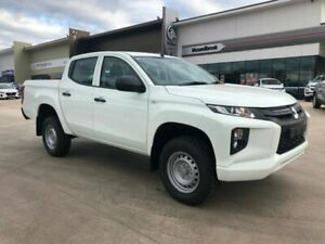2019 Mitsubishi Triton MR MY19 GLX Double Cab White 6 Speed Sports Automatic Utility Muswellbrook Muswellbrook Area Preview