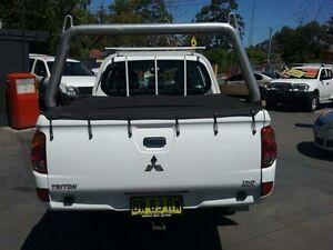2012 Mitsubishi Triton MN MY12 GLX White 5 Speed Manual Dual Cab Utility Greenacre Bankstown Area Preview