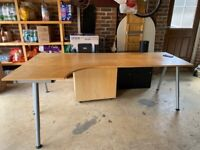Corner Desk - light wood