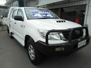 2013 Toyota Hilux KUN26R MY12 SR Double Cab White 4 Speed Automatic Utility Edwardstown Marion Area Preview