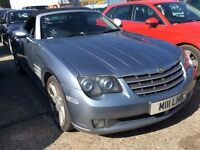CHRYSLER CROSSFIRE 3.2 PETROL AUTOMATIC AUTO V6 ROADSTER CONVERTIBLE BLUE EXCELLENT DRIVE LONG MOT