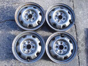 """13"""" 4 bolt steelies / steel wheels"""