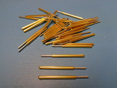 50 Spa-3j Everett Charles Pogo Spring Pin Full Rounded Tip Gold Made In Usa